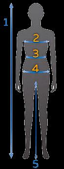 Схема измерений для определения размеров женской одежды