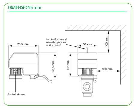 Размеры привода Schneider Electric MZ20A