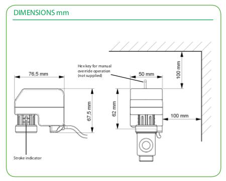 Размеры привода Schneider Electric MZ20A-R