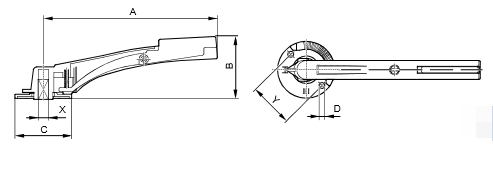 Размеры ручек Siemens ASK46.3
