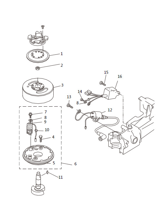 Генератор для лодочного мотора SEA-PRO T2.5