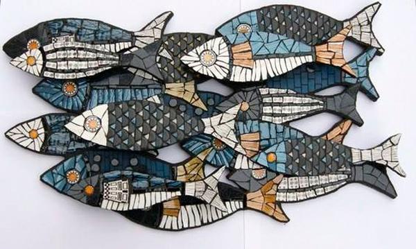 Рыбы обложенные мозаикой, Вариант отделки
