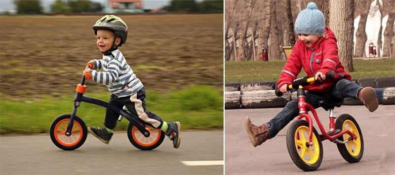 Учим малыша ехать на беговеле отталкиваясь ногами и поднимая их
