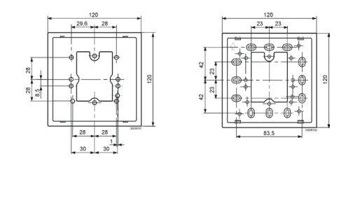 Размеры монтажной рамки Siemens_ARG70