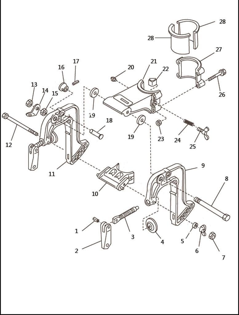 Кронштейн для лодочного мотора SEA-PRO T2.5