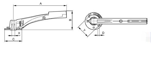 Размеры ручки Siemens ASK46.2
