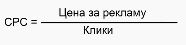 Наглядная формула расчета CPC