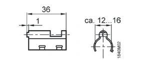 Размеры монтажной рамки Siemens_ARG86.3