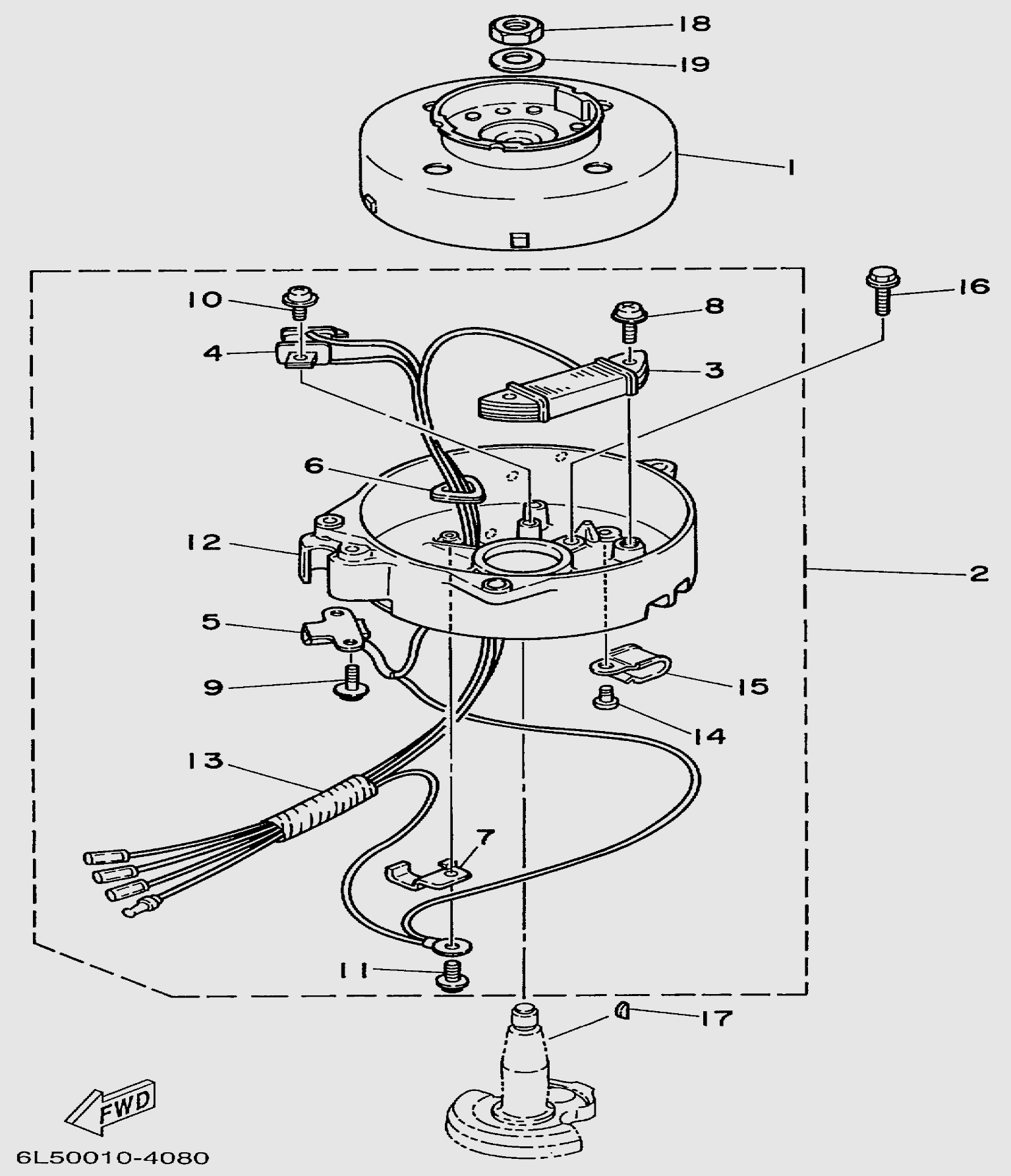 Запчасти генератора лодочного мотора T3S SEA-PRO