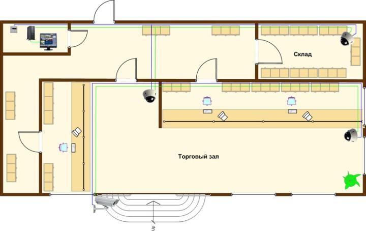 Возможный план расположения комнат в помещении аптеки