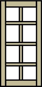 горизонтально-вертикальные перегородки
