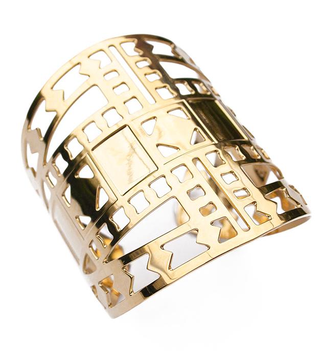 купите золотистый браслет-манжет в византийском стиле от Chic Alors-Paris