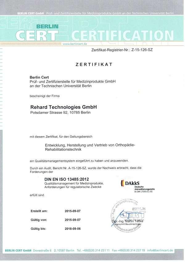 Сертификат ORLETT