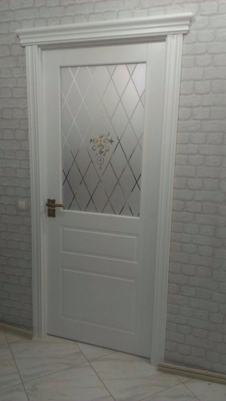 Дверь Владимирская фабрика дверей 15ДОО, цвет белая эмаль, остекленная
