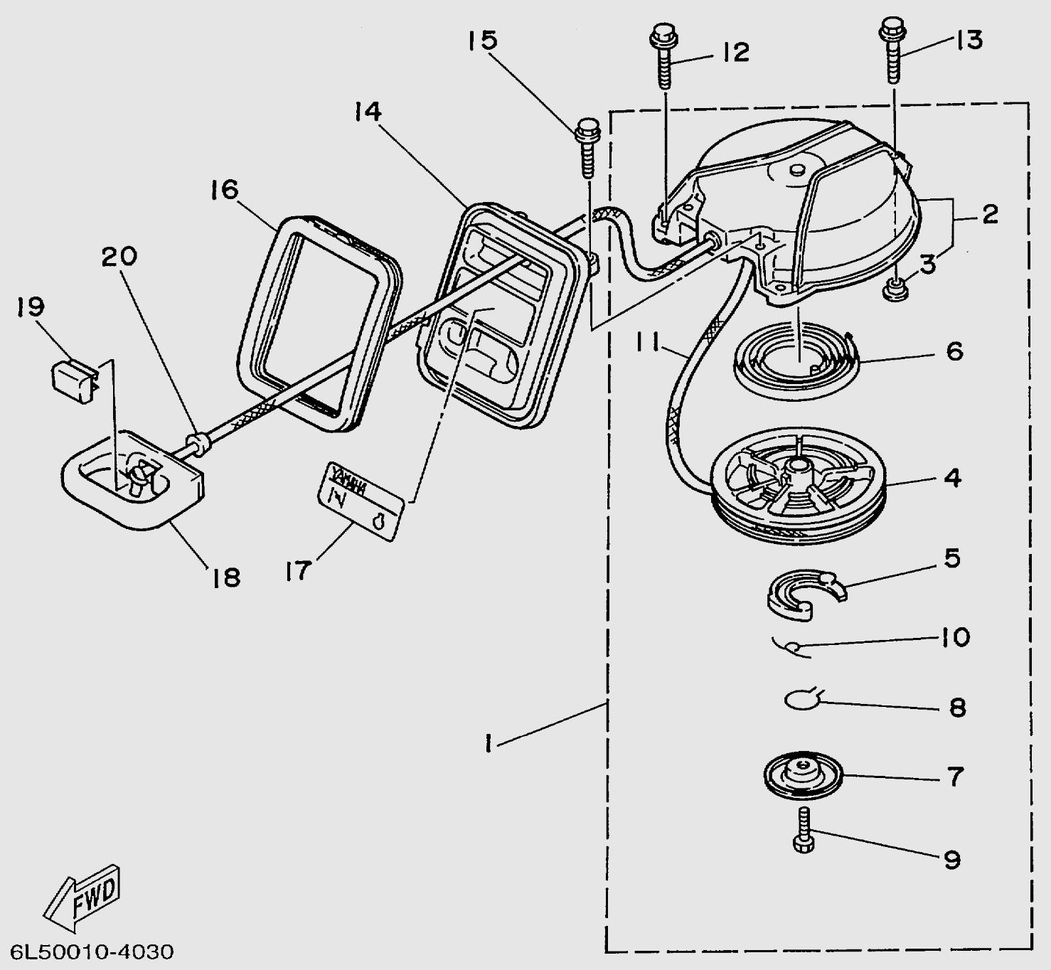 Запчасти стартера лодочного мотора T3S SEA-PRO