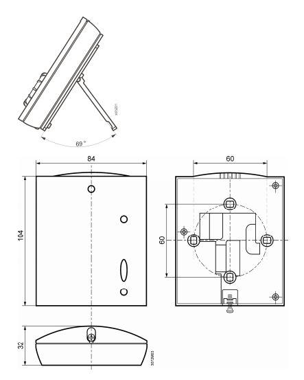 Размеры Siemens RDH10RF/SET