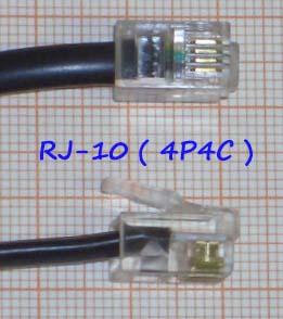 RJ-10 разъем 4P4C