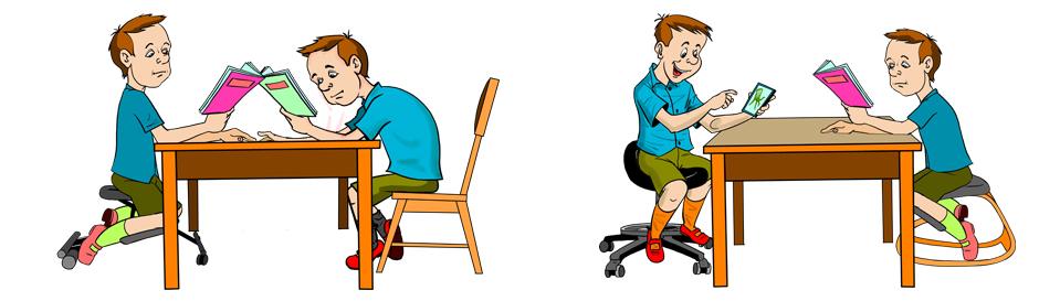 Ортопедические стулья для школьника первого поколения со статическим устойчивым равновесием