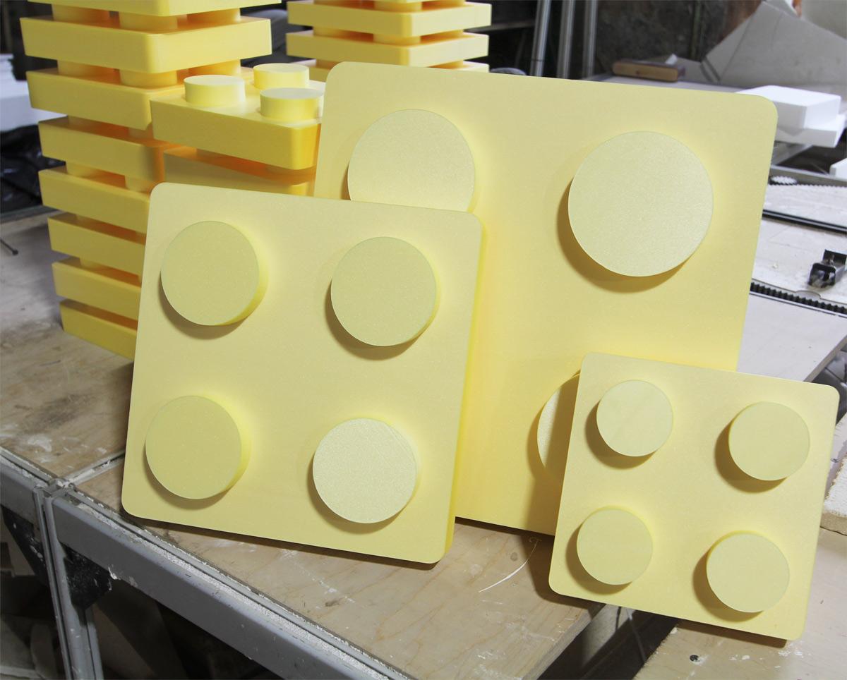 Лего из пенопласта
