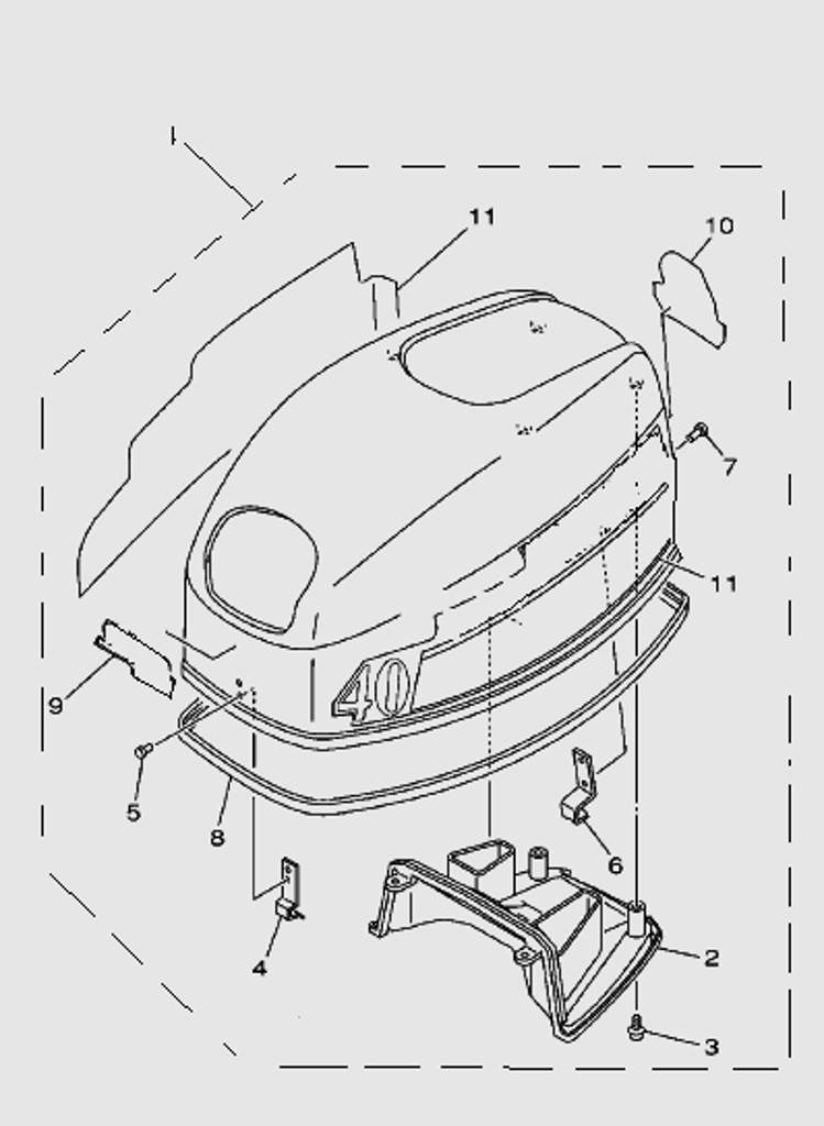 Капот для лодочного мотора SEA-PRO T40