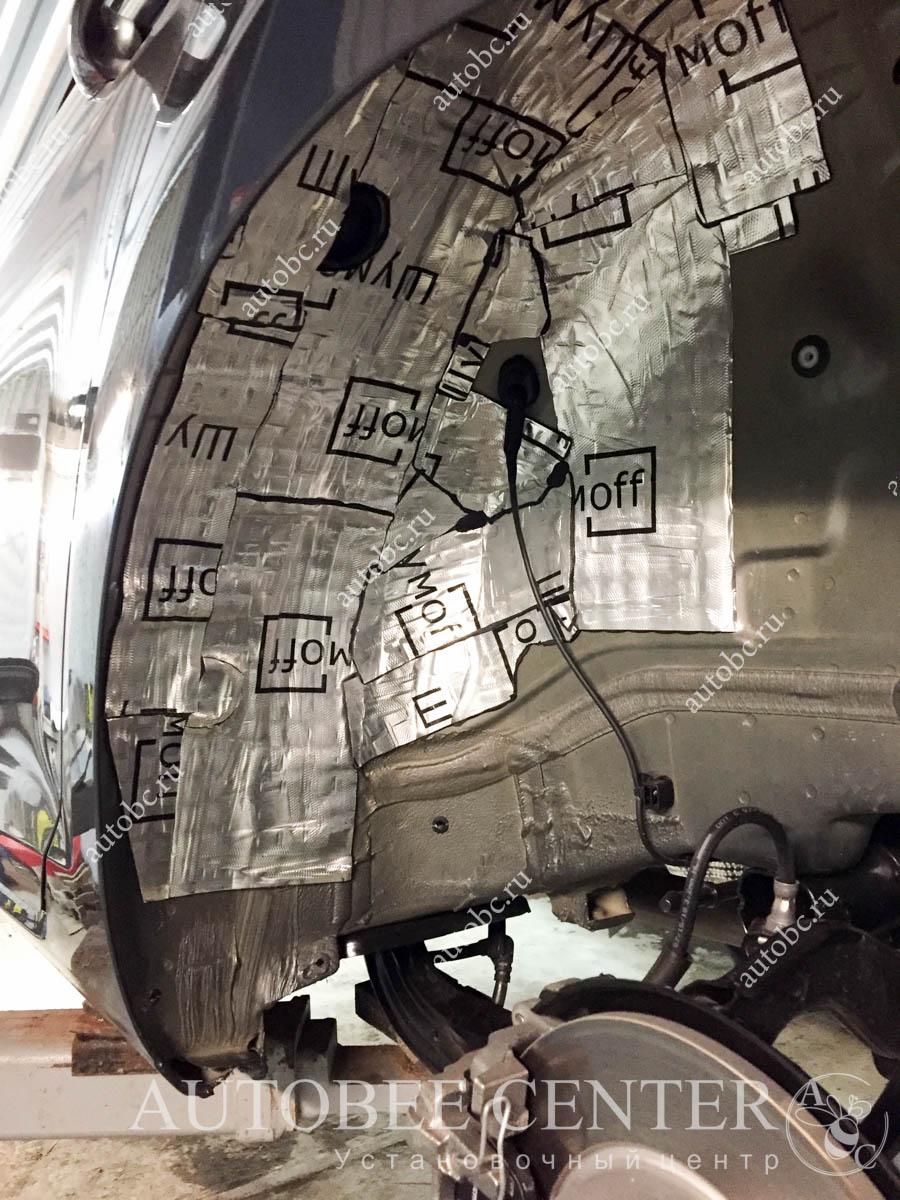VW Gokf 7 (шумоизоляция колесных арок)
