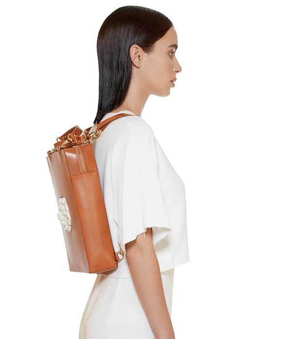 эффектная сумка-рюкзак из кожи oт ANDRES GALLARDO - Bagpack Lion Bag Black