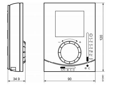 Размеры Siemens RDJ10RF/SET