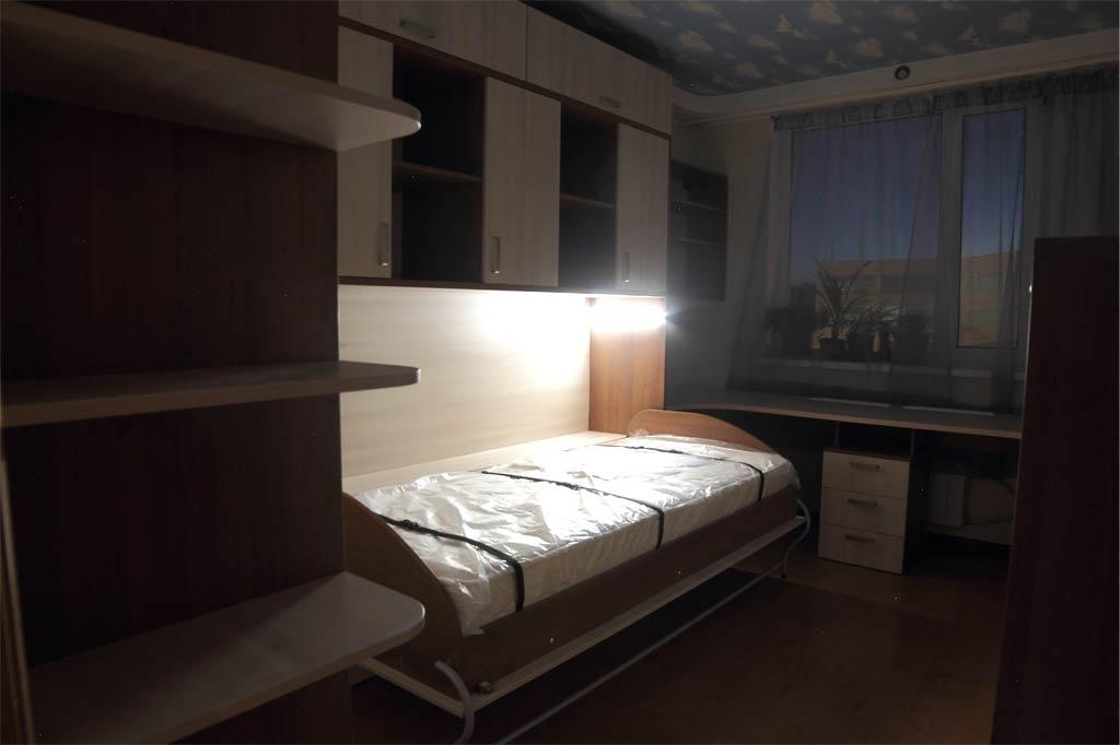 2 горизонтальных шкаф-кровати