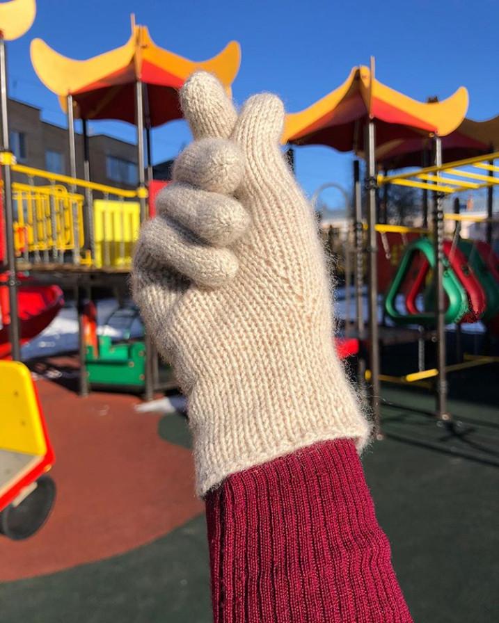 перчатки из монгольского кашемира sarlag