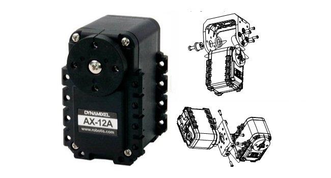 Пример крепления сервомотора Dynamixel