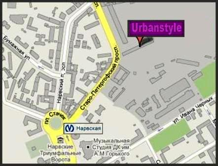 Контакты и адрес компании Urbanstyle
