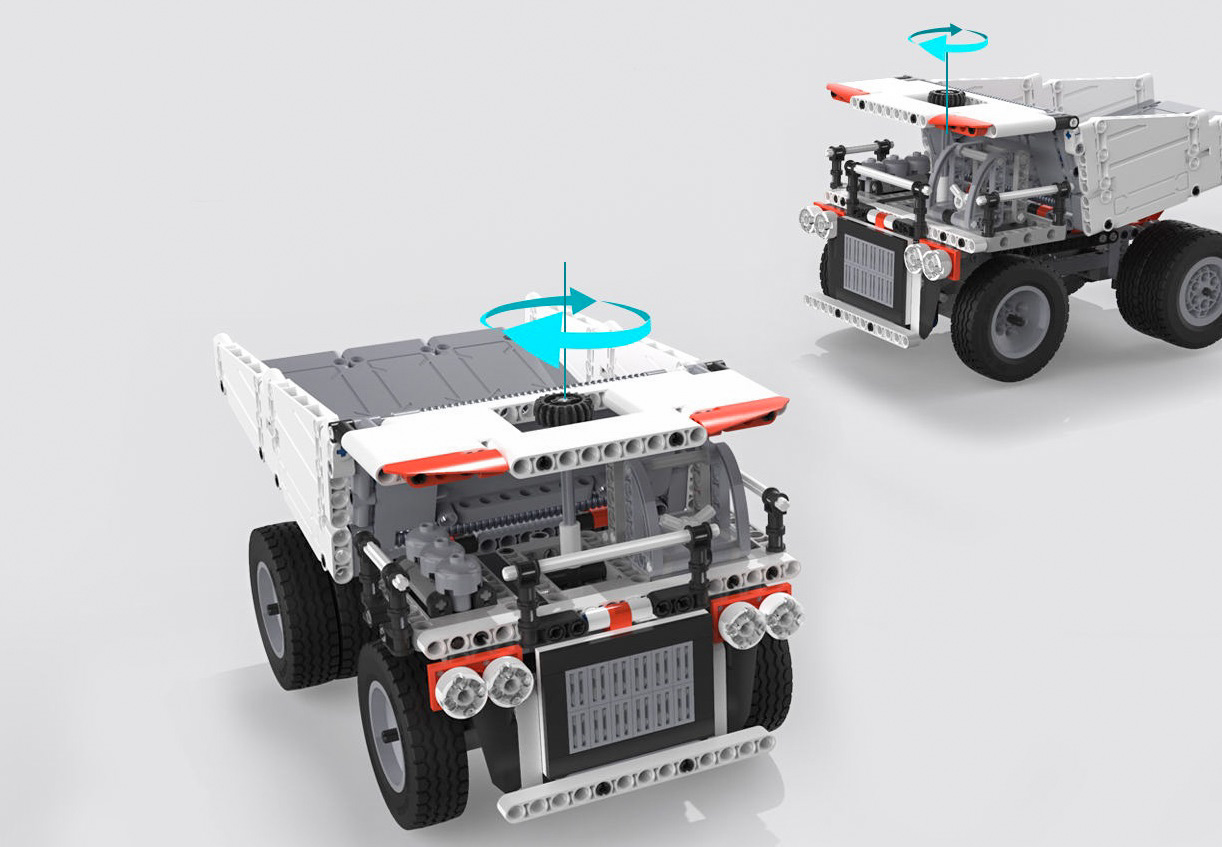 Конструктор MITU Building Blocks Mining Truck