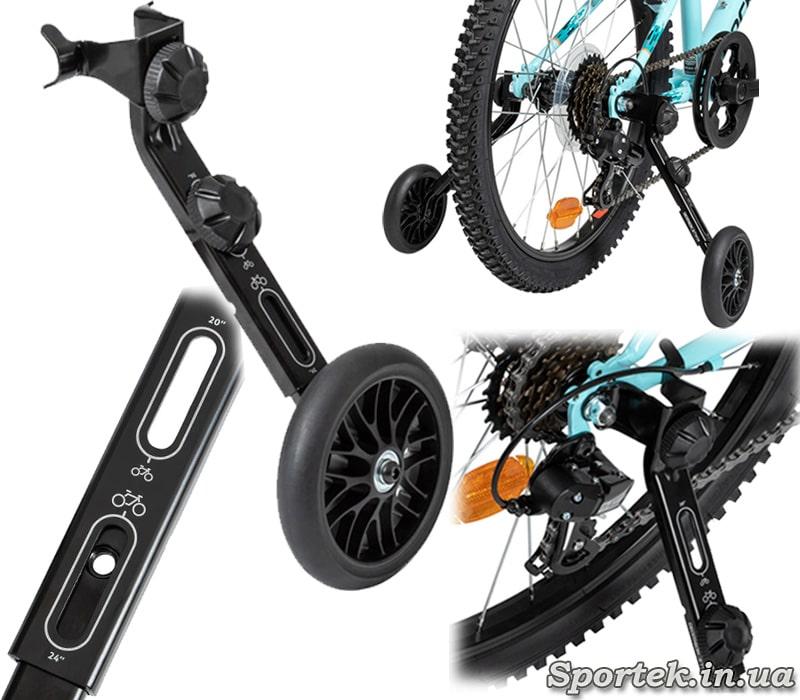 Боковые колесики для велосипедов с 20 или 24 дюймовыми колесам
