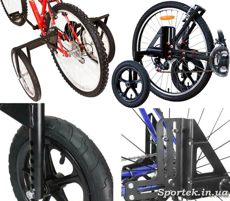 Боковые колеса для велосипедов с колесами более 24 дюймов
