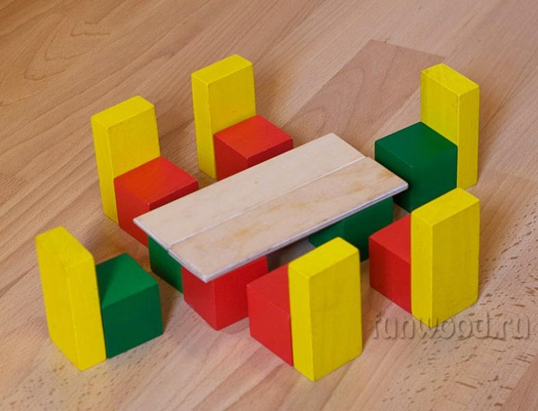 Конструктор из дерева для детей