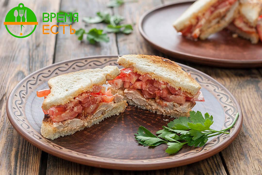 Тосты с томатом и балыком