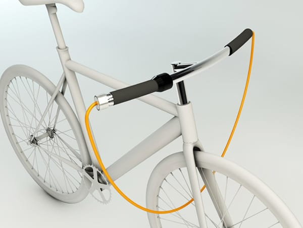 Тросовый велозамок в руле