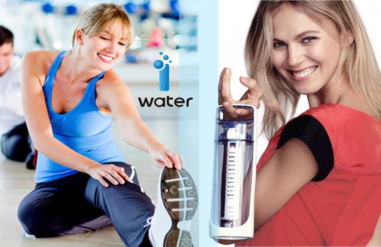 портативная бутылка для получения ионизированной воды i-water