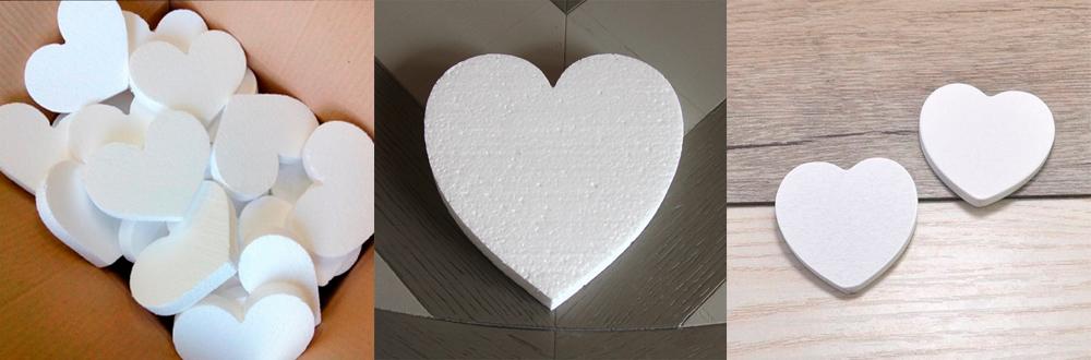 Сердце из пенопласта заготовки
