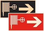 фотолюминесцентные знаки пожарной безопасности F31 Указатель движения к пожарному крану направо