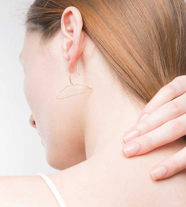 оригинальные серьги от Miss Bibi - Coat Hanger earrings