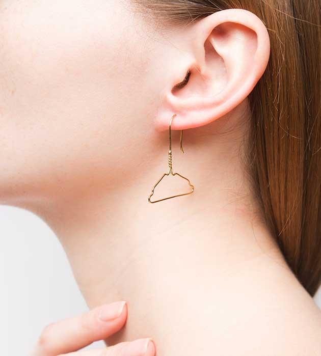 купите необычное украшение от Miss Bibi - Coat Hanger earrings