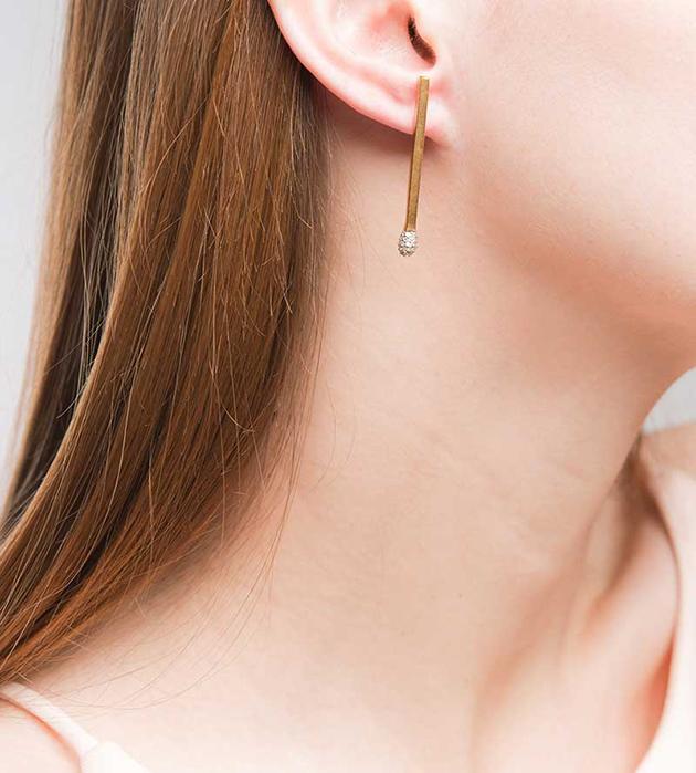 необычные серьги oт Miss Bibi - Precious Match earrings