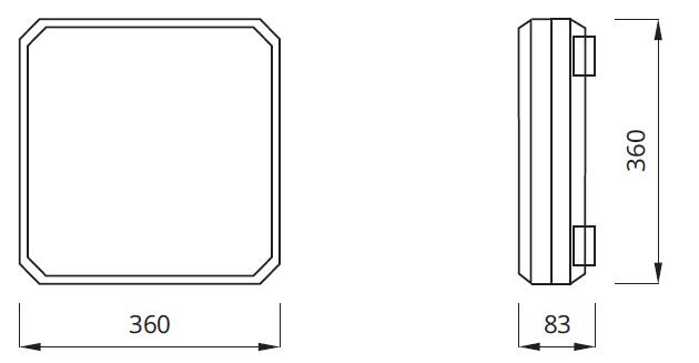 Размер аварийного светильника 2х18