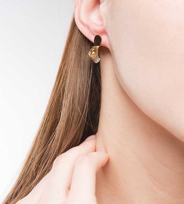 оригинальные серьги от Miss Bibi - Precious WC earrings