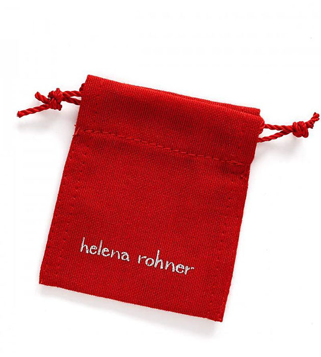 купите украшение с серебрянной подвеской от испанского бренда Helena Rohner - Silver square bracelet with black string