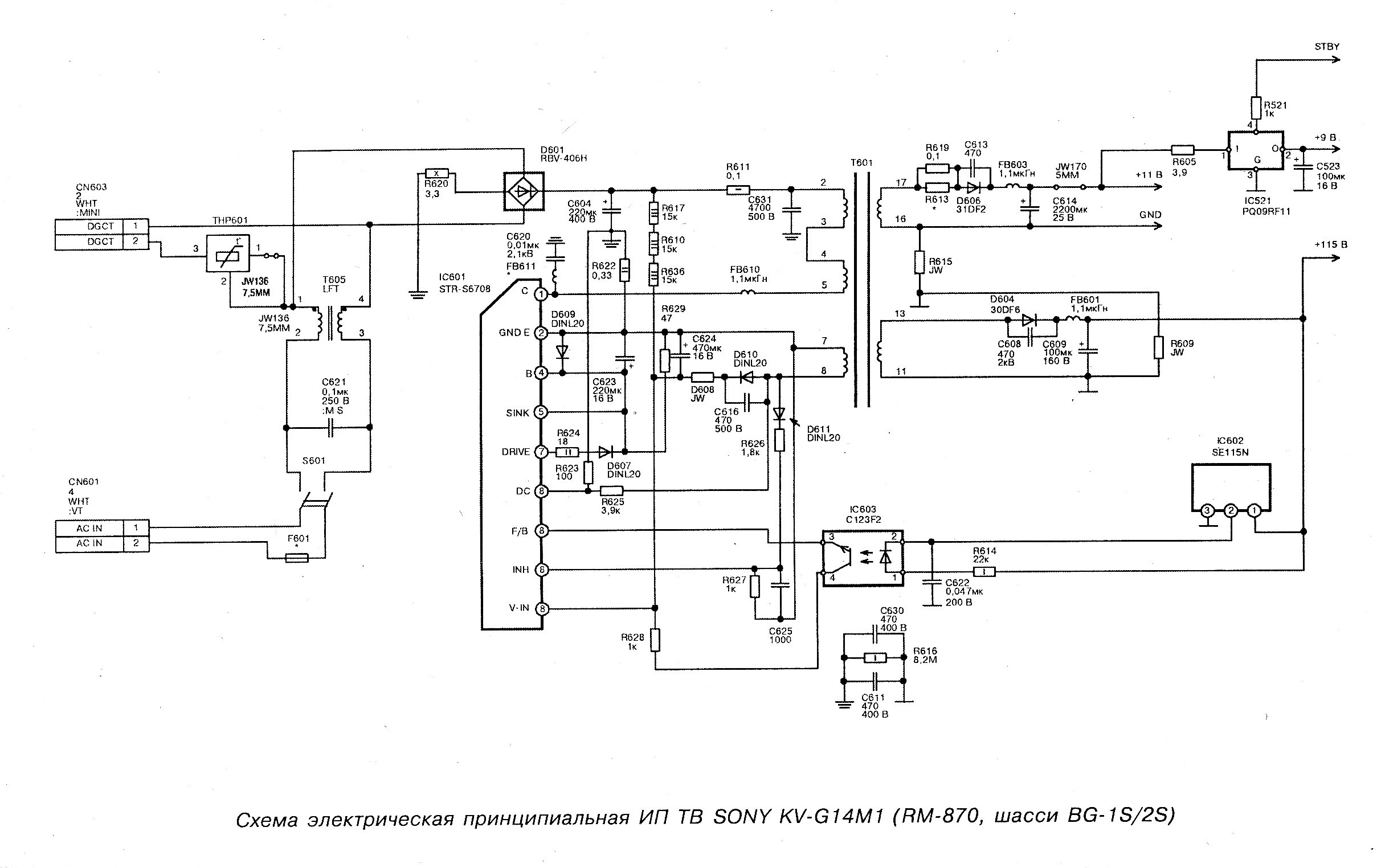 Схема телевизора сони бравиа