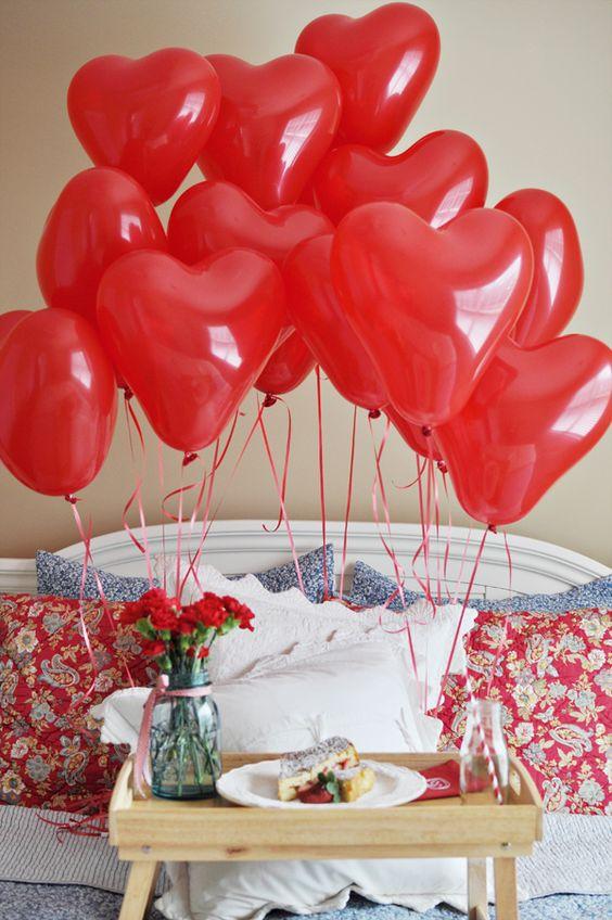 букеты из шаров сердец