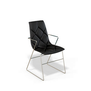 Стул для гостиной Kenner 104S с подлокотниками, мягким сиденьем и спинкой, цвет - черный