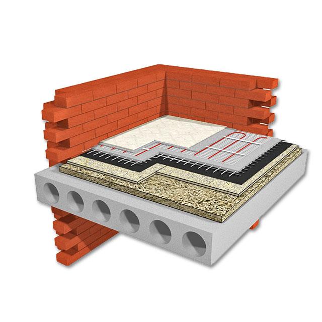 Теплый пол по бетонному основанию